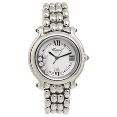 Chopard Ladies Stainless Steel Happy Sport Happy Diamond Quartz Wristwatch