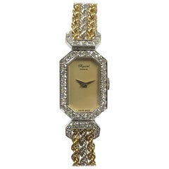 Chopard Ladies White and Yellow Gold Diamond Set Mechanical Wristwatch