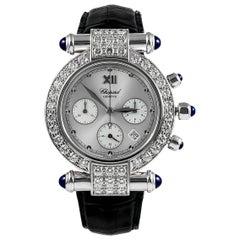 Chopard Ladies Yellow Gold Diamond Sapphire Imperiale Chrono Wristwatch
