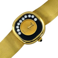Chopard Ladies yellow gold Happy Diamonds Manual Wristwatch
