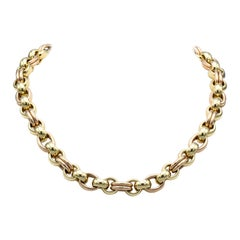Chopard Les Chaines 18 Karat Rose Yellow Gold Link Necklace