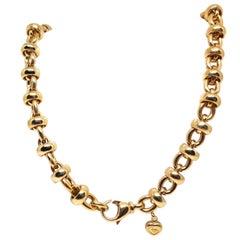 Chopard Les Chaines 18 Karat Yellow Gold Link Necklace Bracelet Set Original Box