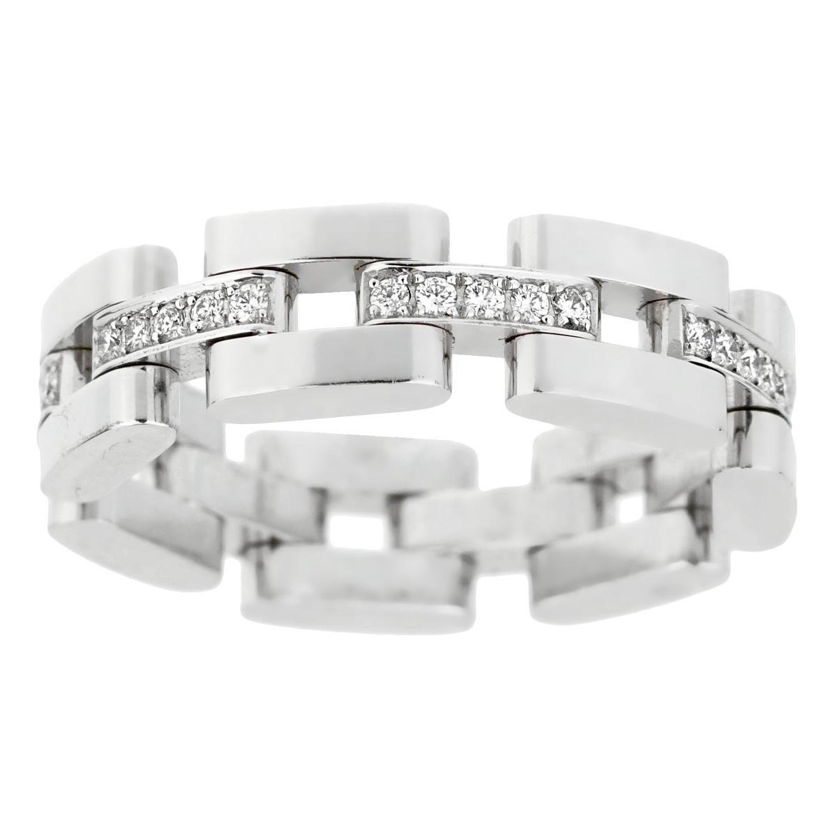 Chopard Les Chaines 3-Row White Gold Diamond Ring