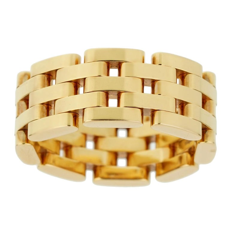 Women's Chopard Les Chaines Rose Gold 5-Row Ring For Sale