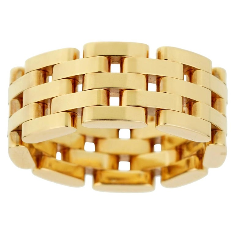 Chopard Les Chaines Rose Gold 5-Row Ring For Sale