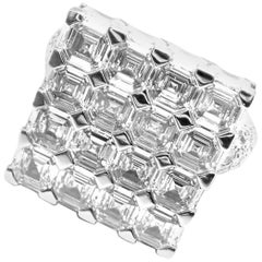 Chopard Limited Edition Super Ice Cube 15 Carat Diamond Rotating White Gold Ring