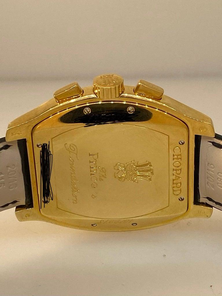 Chopard L.U.C Prince Tonneau Automatic Chronograph Black Dial Mens Watch 16/2278 For Sale 6