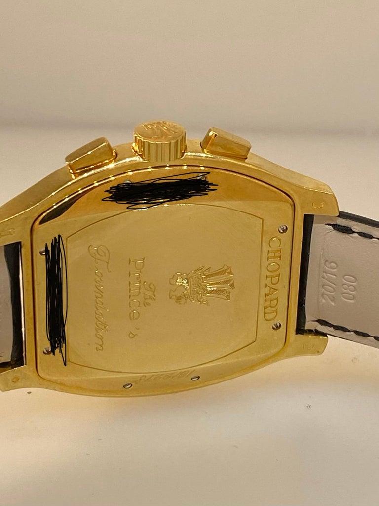 Chopard L.U.C Prince Tonneau Automatic Chronograph Black Dial Mens Watch 16/2278 For Sale 7