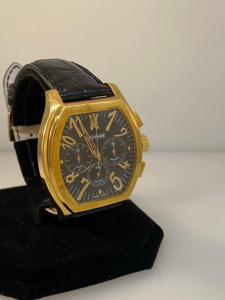 Men's Chopard L.U.C Prince Tonneau Automatic Chronograph Black Dial Mens Watch 16/2278 For Sale