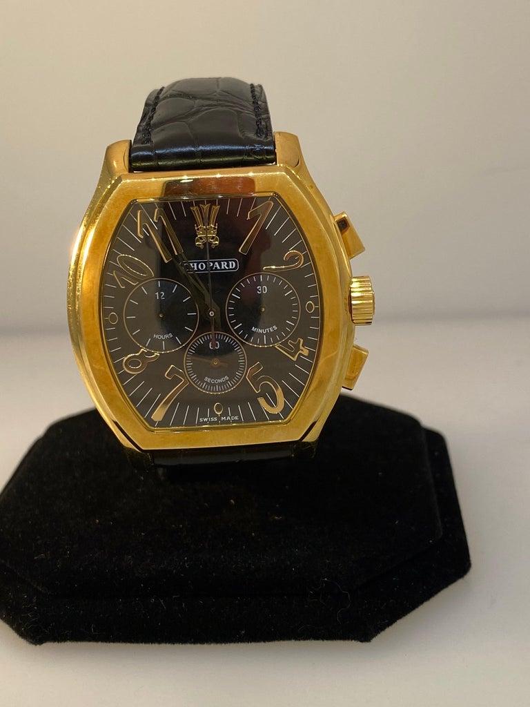 Chopard L.U.C Prince Tonneau Automatic Chronograph Black Dial Mens Watch 16/2278 For Sale 1