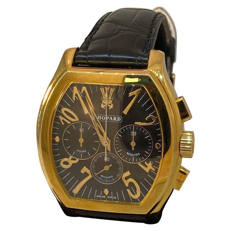 Chopard L.U.C Prince Tonneau Automatic Chronograph Black Dial Mens Watch 16/2278 For Sale