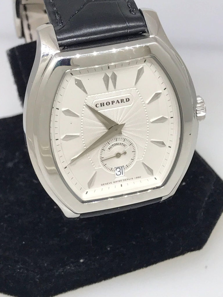 Chopard L.U.C. Prince Foundation Watch  Model Number: 16/2267  Limited Edition to 1860 Pieces  100% Authentic  New (Old Stock)  Comes with original Chopard box and instruction manual  18 Karat White Gold  Sapphire Crystal  Silver Guilloche