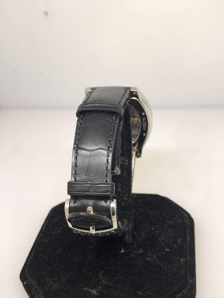Chopard L.U.C White Gold Tonneau Shape Silver Dial Automatic Men's Watch 16/2267 For Sale 1