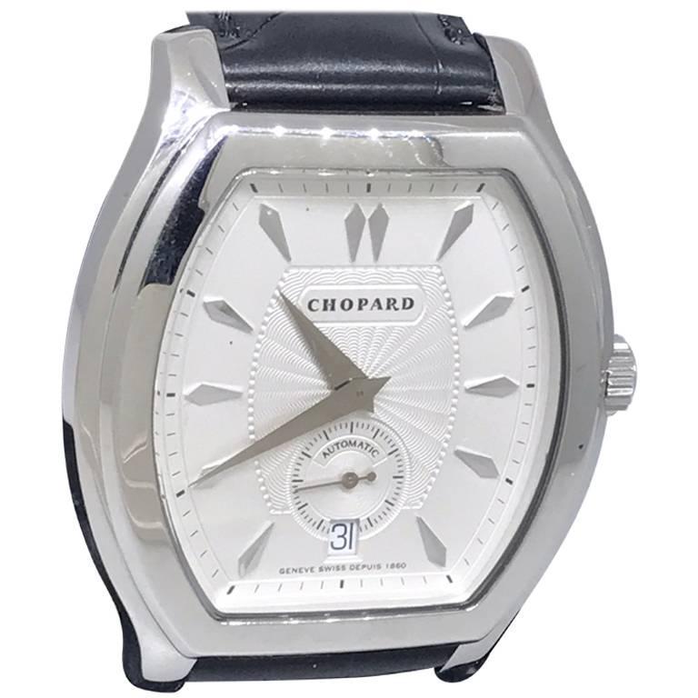Chopard L.U.C White Gold Tonneau Shape Silver Dial Automatic Men's Watch 16/2267 For Sale