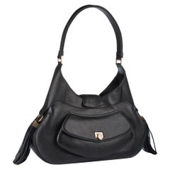Chopard Madrid Black Calfskin Leather Handbag, Brand New