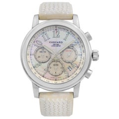 Chopard Mille Miglia 1000 Steel Chronograph MOP Dial Ladies Watch 168511-3018