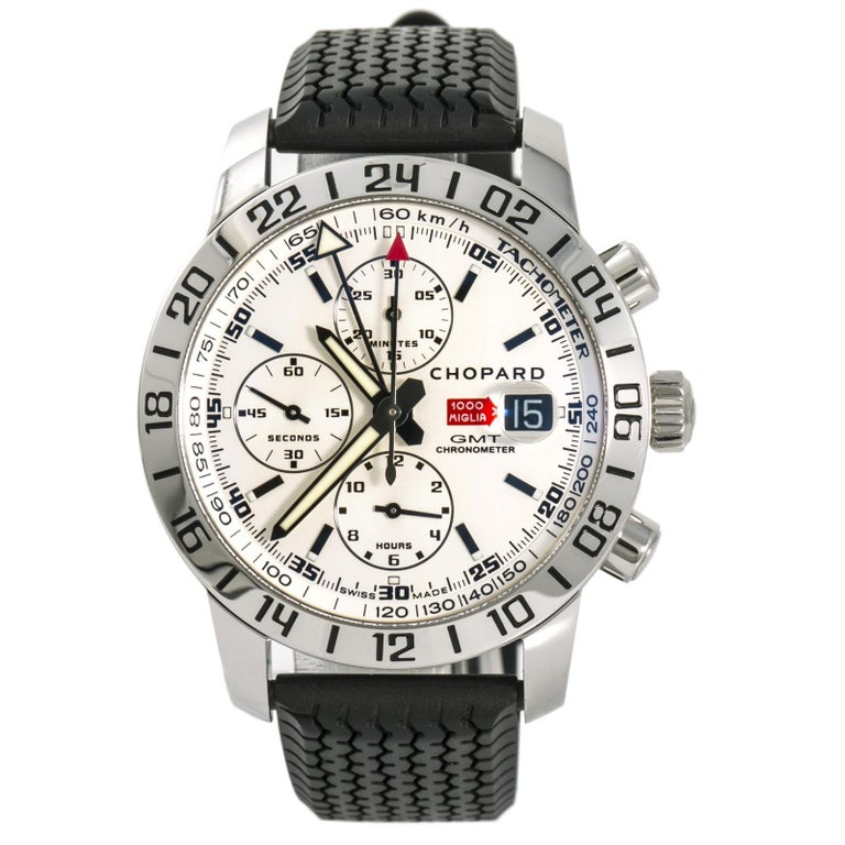 953fb49a83377 Chopard Mille Miglia GMT 8992 Box and Papers Men's Automatic Watch  Chronograph For Sale