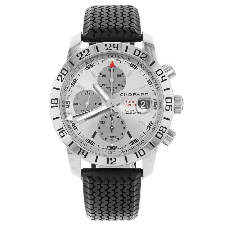306244d6e60f Chopard Mille Miglia GMT Steel Rubber Automatic Men s Watch 168992-3022 For  Sale