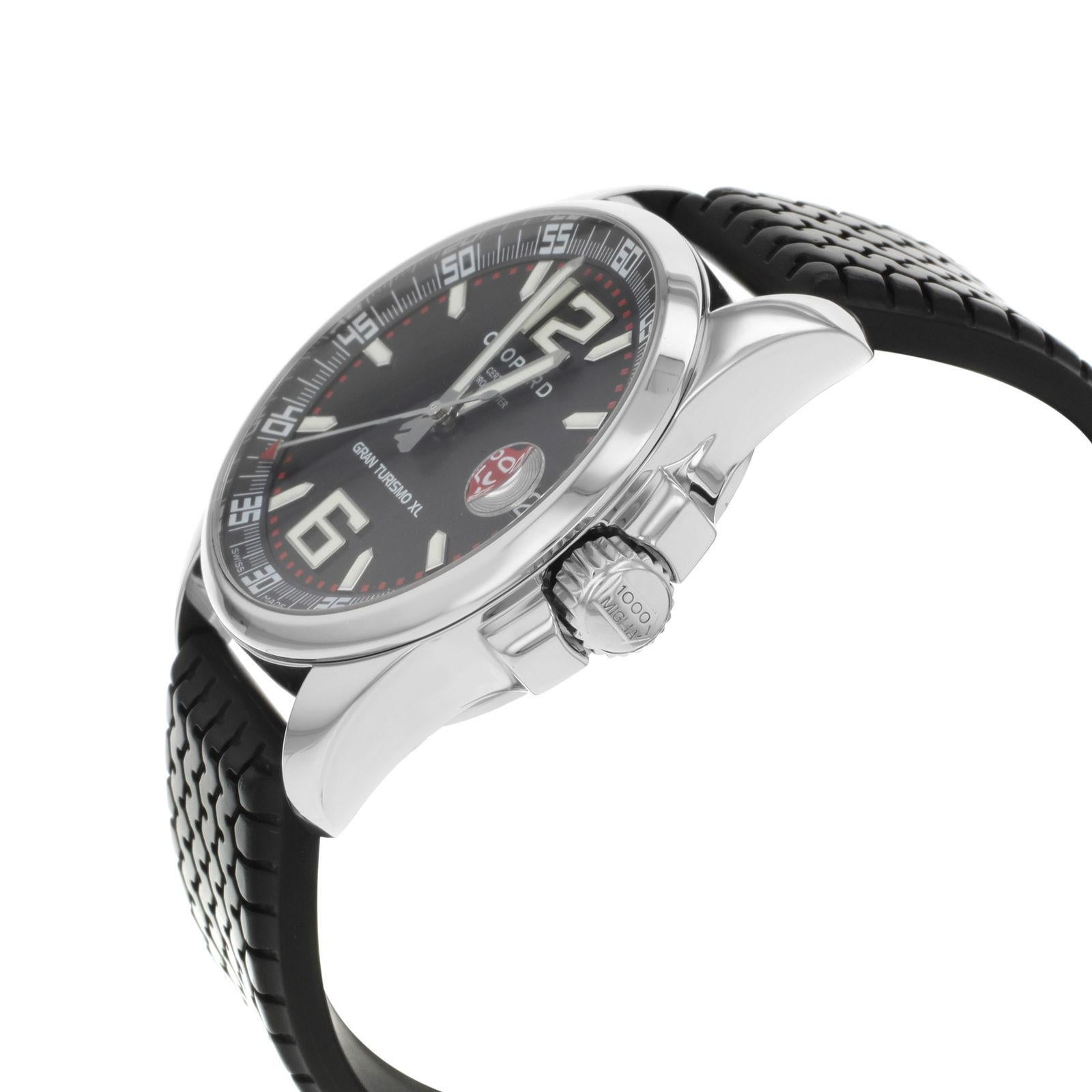 6591fd69786 Chopard Mille Miglia Gran Turismo XL 168997-3001 Steel Automatic Mens Watch  For Sale at 1stdibs