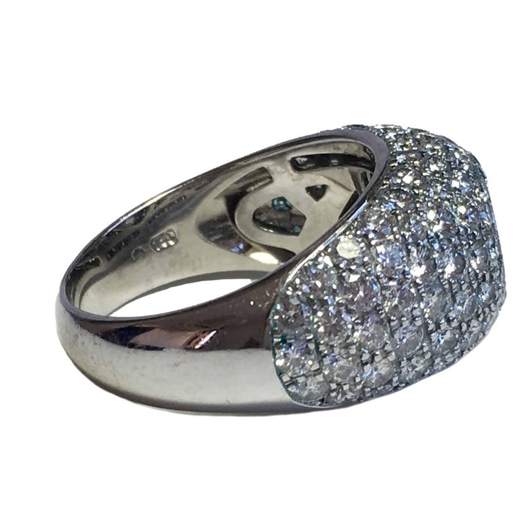 CHOPARD Ring in 18K White Gold set with Brilliant Cut Diamonds Size 56 For Sale 1