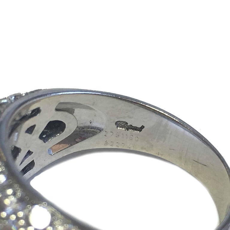 CHOPARD Ring in 18K White Gold set with Brilliant Cut Diamonds Size 56 For Sale 4