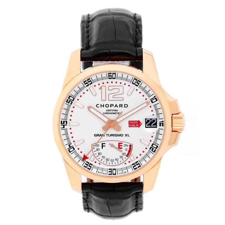 Chopard Rose gold Gran Turismo XL Automatic Wristwatch Ref 161272-5001 For Sale