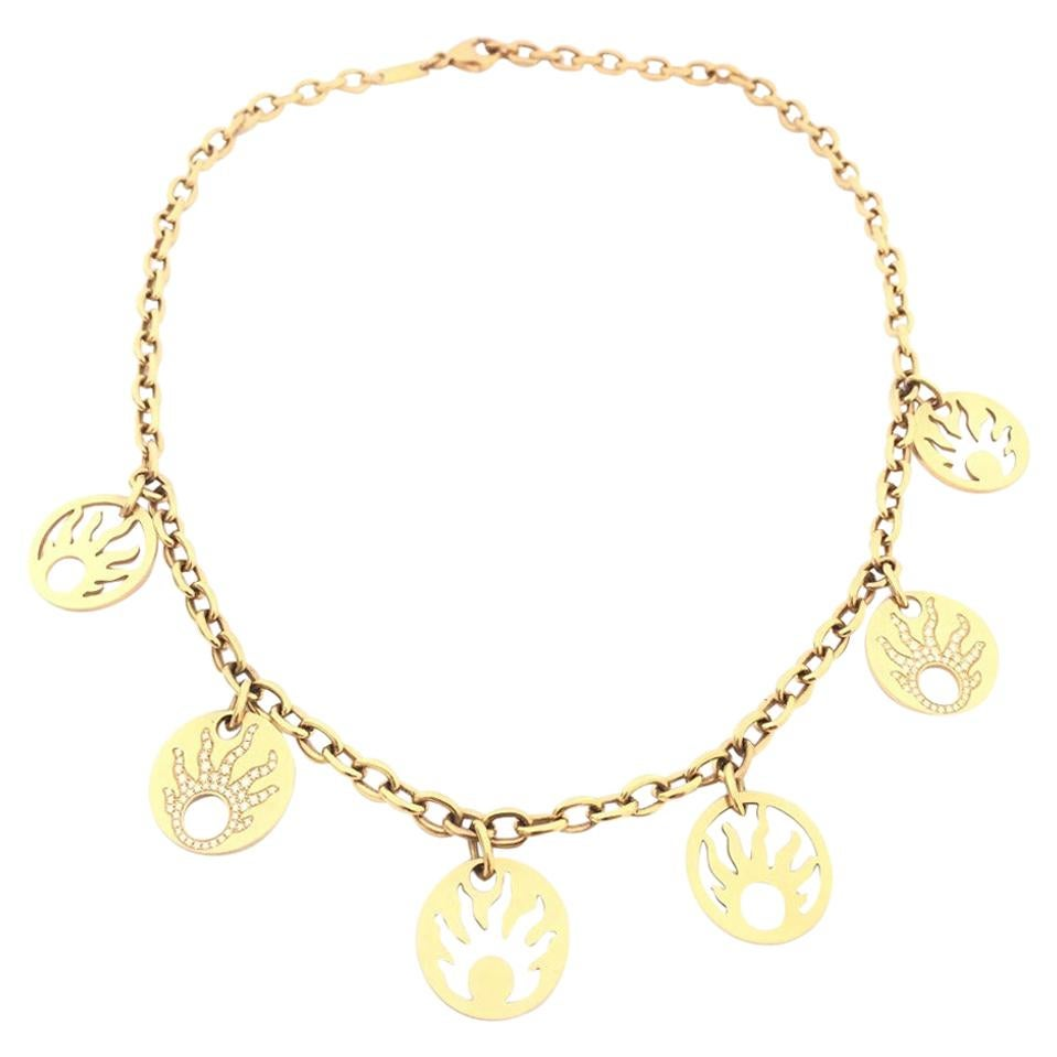 Chopard Rose Gold Ladies Diamond Necklace 81/6670/0
