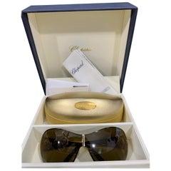 Chopard SCH 751S 0300 115 Rose Gold Women Sunglasses, Oversized