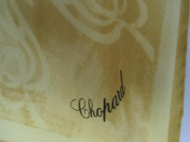 Chopard for Heiando Silk Scarf Butterfly Flowers  For Sale 3