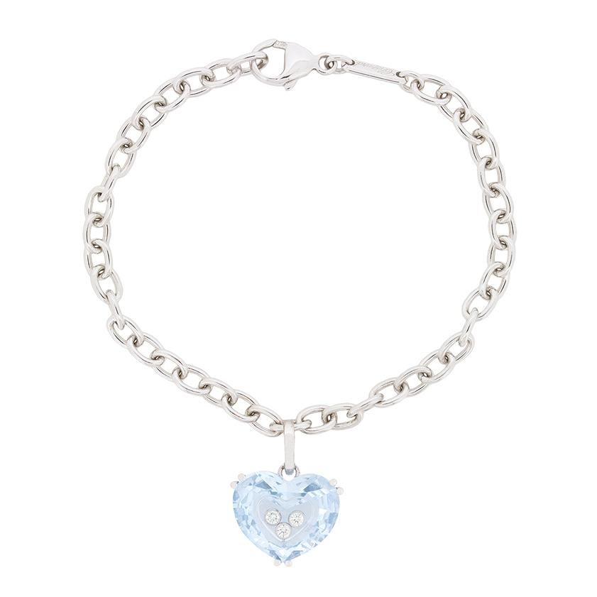 Chopard 'So Happy Heart' Aquamarine and Diamond Bracelet