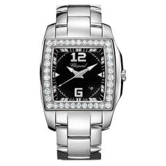 Chopard Stainless Steel and Diamond Watch 108464-2001