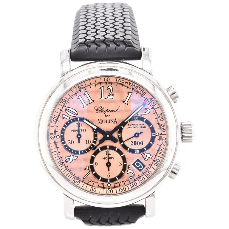 Chopard Stainless Steel For Molina Copperstate One Thousand Chronograph For Sale