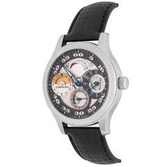 Chopard Stainless Steel L.U.C Tech Regulator GMT Power Reserve Manual Wristwatch