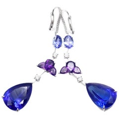 Chopard Temptations High Jewelry Diamond Tanzanite Amethyst White Gold Earrings