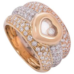 Chopard Tri-Color Gold Happy Diamonds Ring