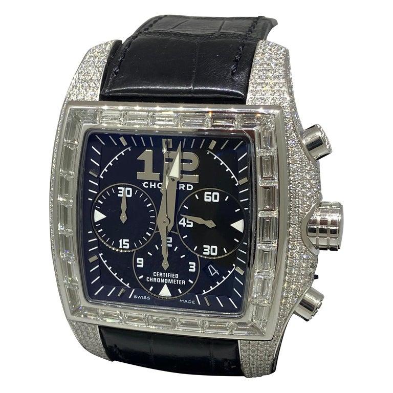 Chopard Two O Ten Diamond Case Black Dial Automatic Men's Watch 17/2272-1001 For Sale