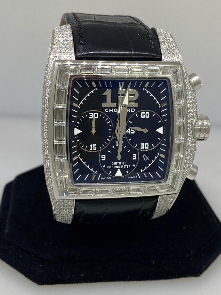 Chopard Two O Ten Diamond Case Black Dial Automatic Men's Watch 17/2272-1001 For Sale 1