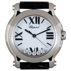 Chopard Unworn Happy Sport NOS Ladies Stainless Steel White Dial 278509-3001