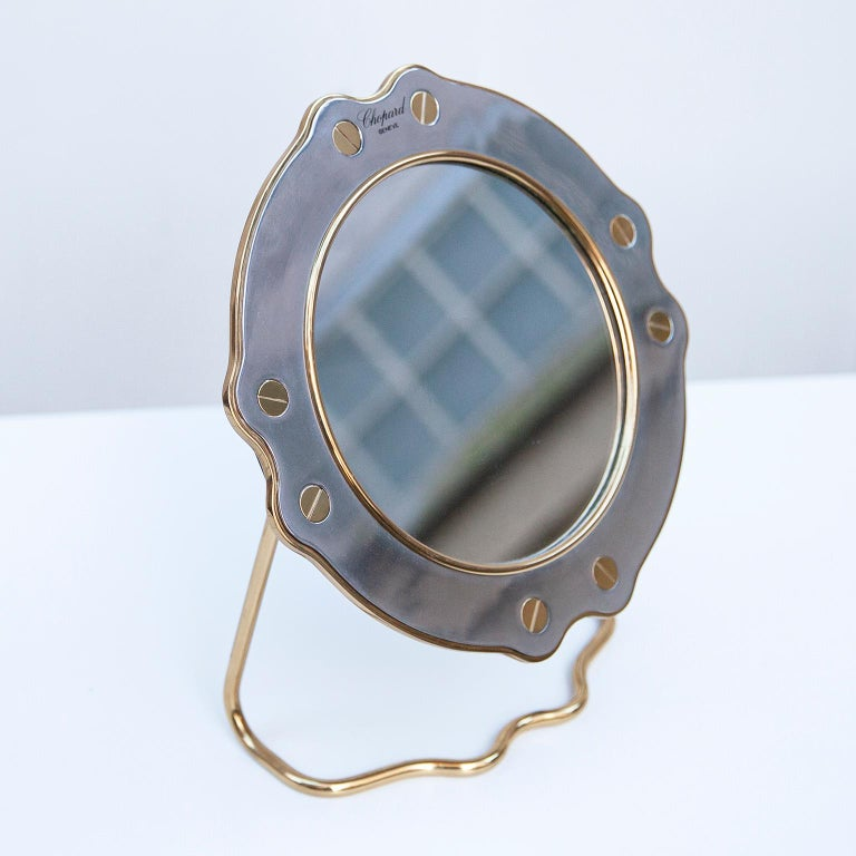 Late 20th Century Chopard Vintage Vanity Mirror St.Moritz For Sale