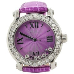 Chopard Violet Happy Sport with Floating Diamonds and Topazes