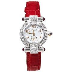 Chopard White 18K White Gold Diamonds Imperiale Women's Wristwatch 26MM