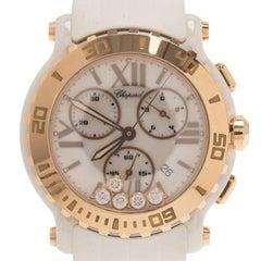 Chopard White Ceramic Happy Sport Women's Wristwatch 42MM