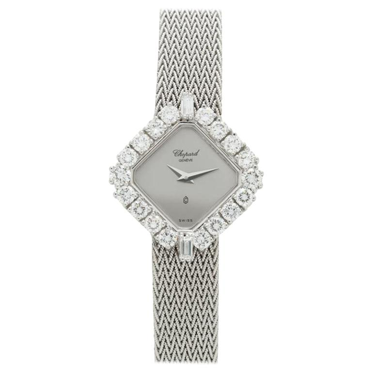 Chopard White Gold and Diamond Dress Watch 5161