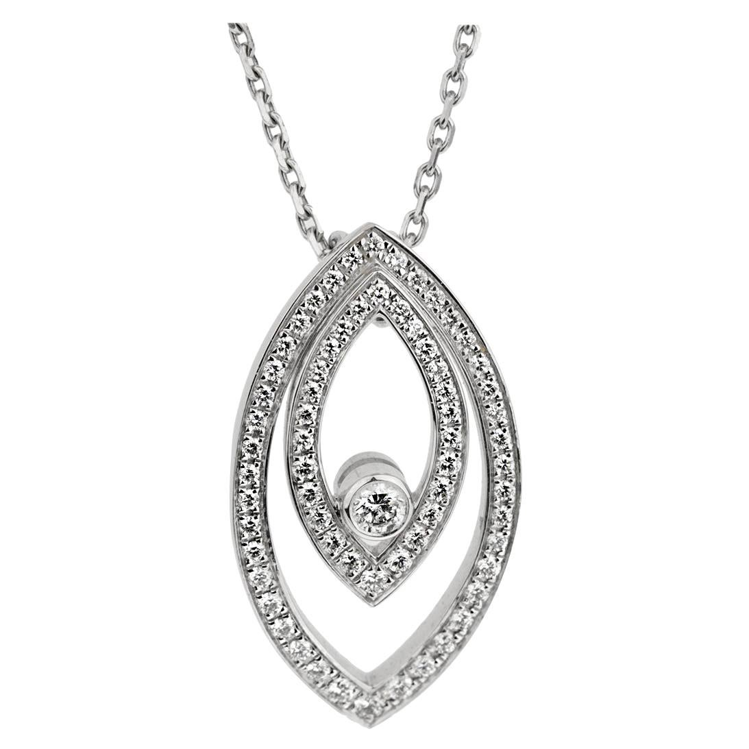 Chopard White Gold Diamond Eye Pendant Necklace