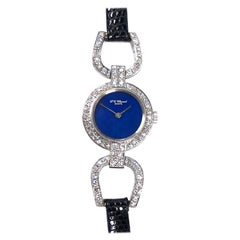 Chopard White Gold Diamonds and Lapis Dial Ladies Wristwatch