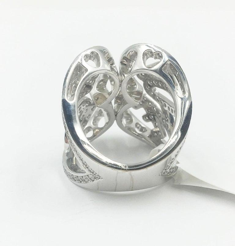 Women's Chopard White Gold Diamonds Heart Ring For Sale