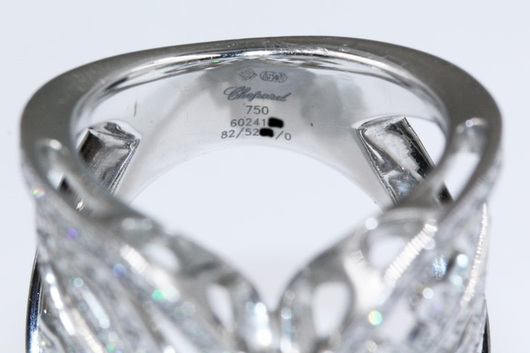Chopard White Gold Diamonds Heart Ring For Sale 3
