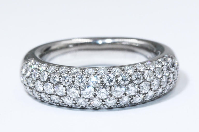 Chopard White Gold Diamonds Ring  79 DIAM 1.6 CT FC F-G IF-VVS  Item come with warranty and box Weight: 15.99g Size US 6.5 EU 53 CPJ035