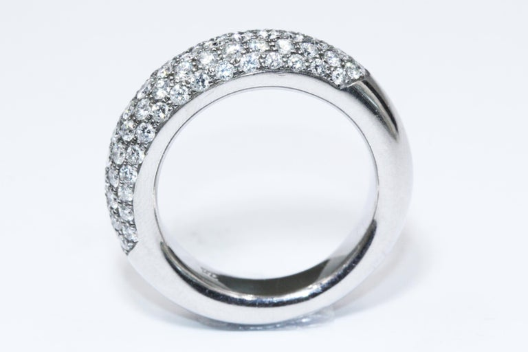 Women's Chopard White Gold Diamonds Ring For Sale