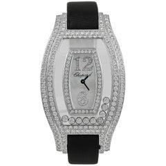 Chopard white gold Nine Bezel Happy Diamonds Wristwatch